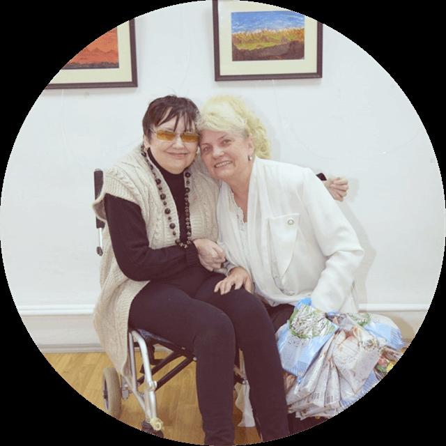 Татьяна Чевордаева на выставке Сильные духом